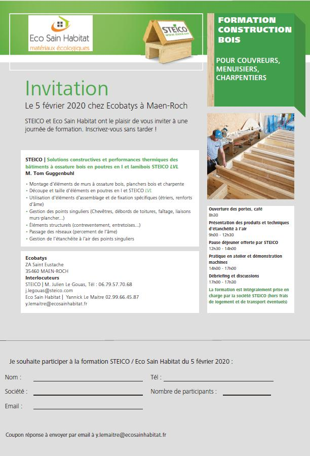 Invitation Eco Sain Habitat & Steico